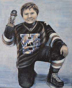 Murals By Marg -- boys hockey room 13