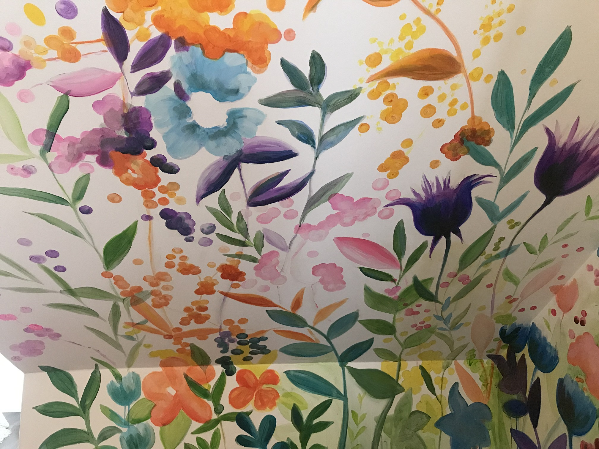 Murals By Marg - Spring Flowers Mural 2.