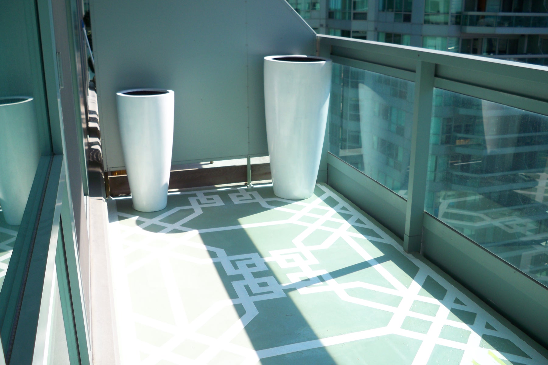 Murals By Marg Hand Painted Terrace geometric pattern 1.JPG