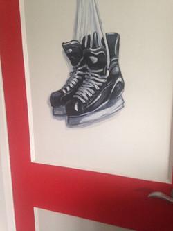 Murals By Marg -- boys hockey room 23