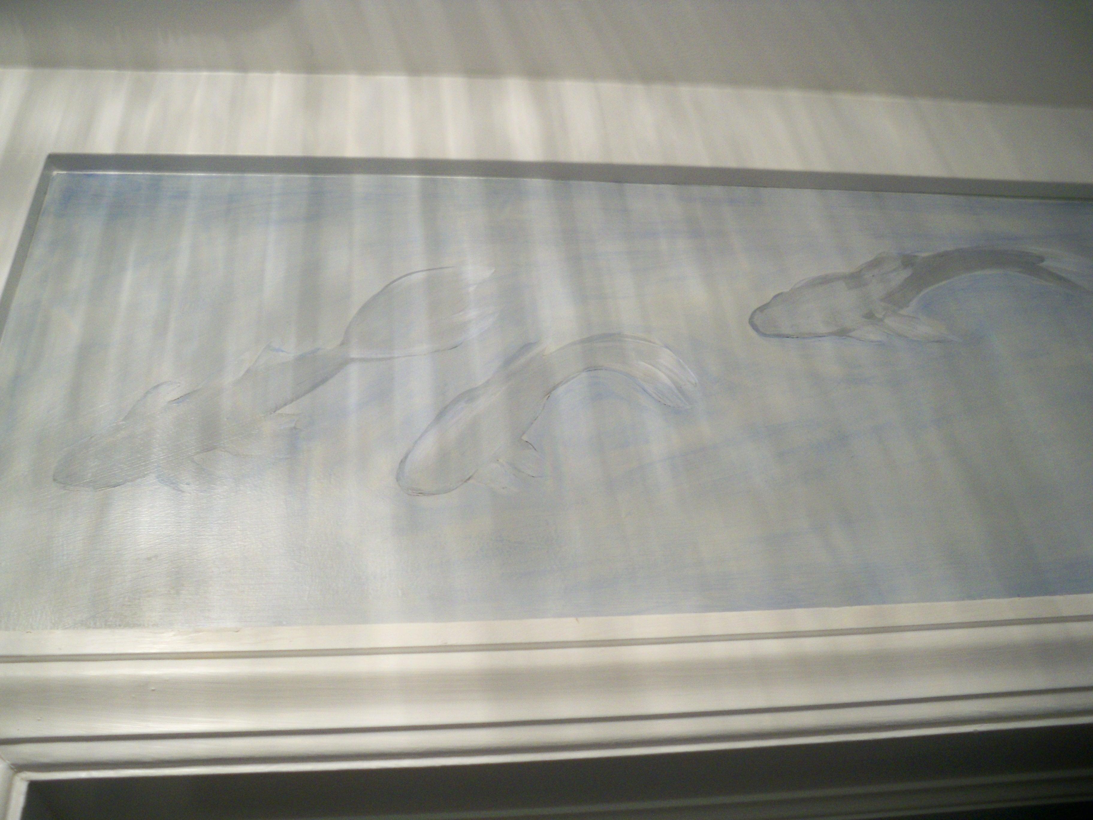 Murals By Marg Hand Painted Wallpaper Koi 4.JPG
