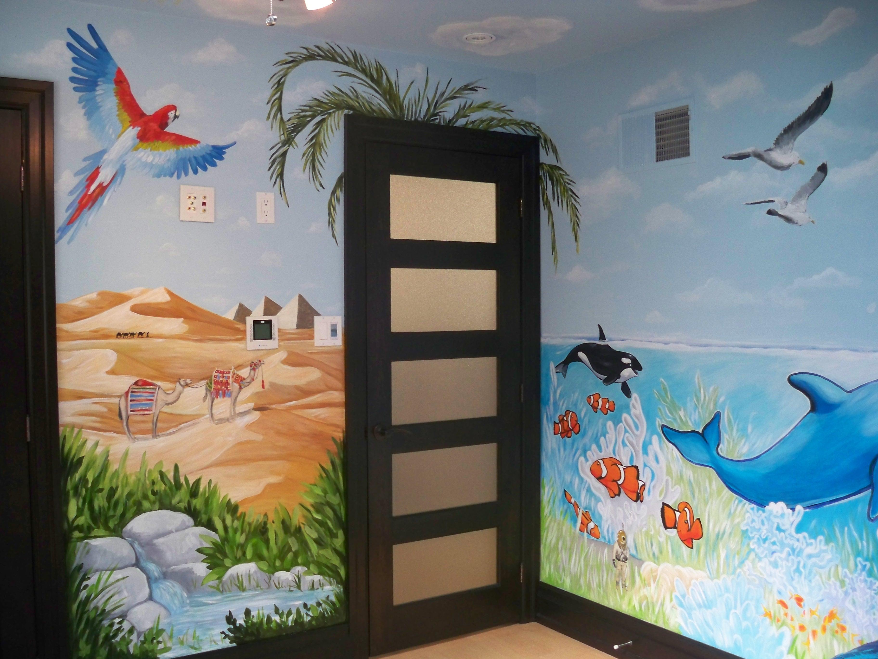 Murals By Marg Safari room mural painting 2.JPG