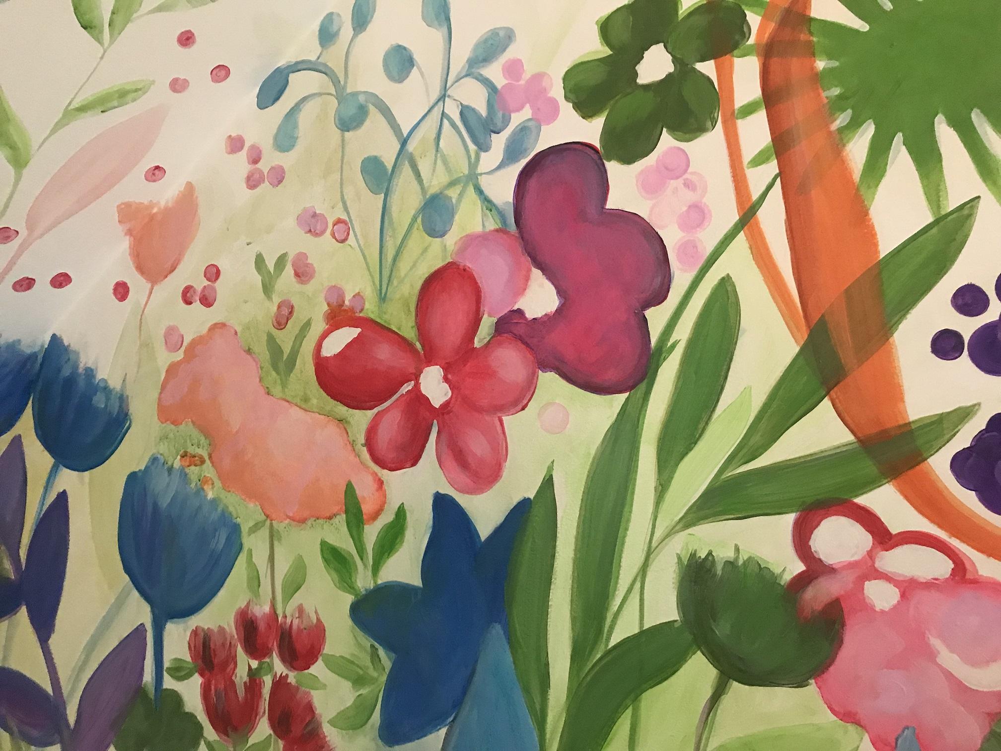 Murals By Marg Spring Flowers Garden Mur