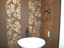 Murals By Marg Hand Painted Stencil Powder Room 1.jpg