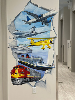 Murals By Marg Planes Trains and Boats