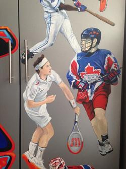 Murals By Marg Alex's Sports Locker 11