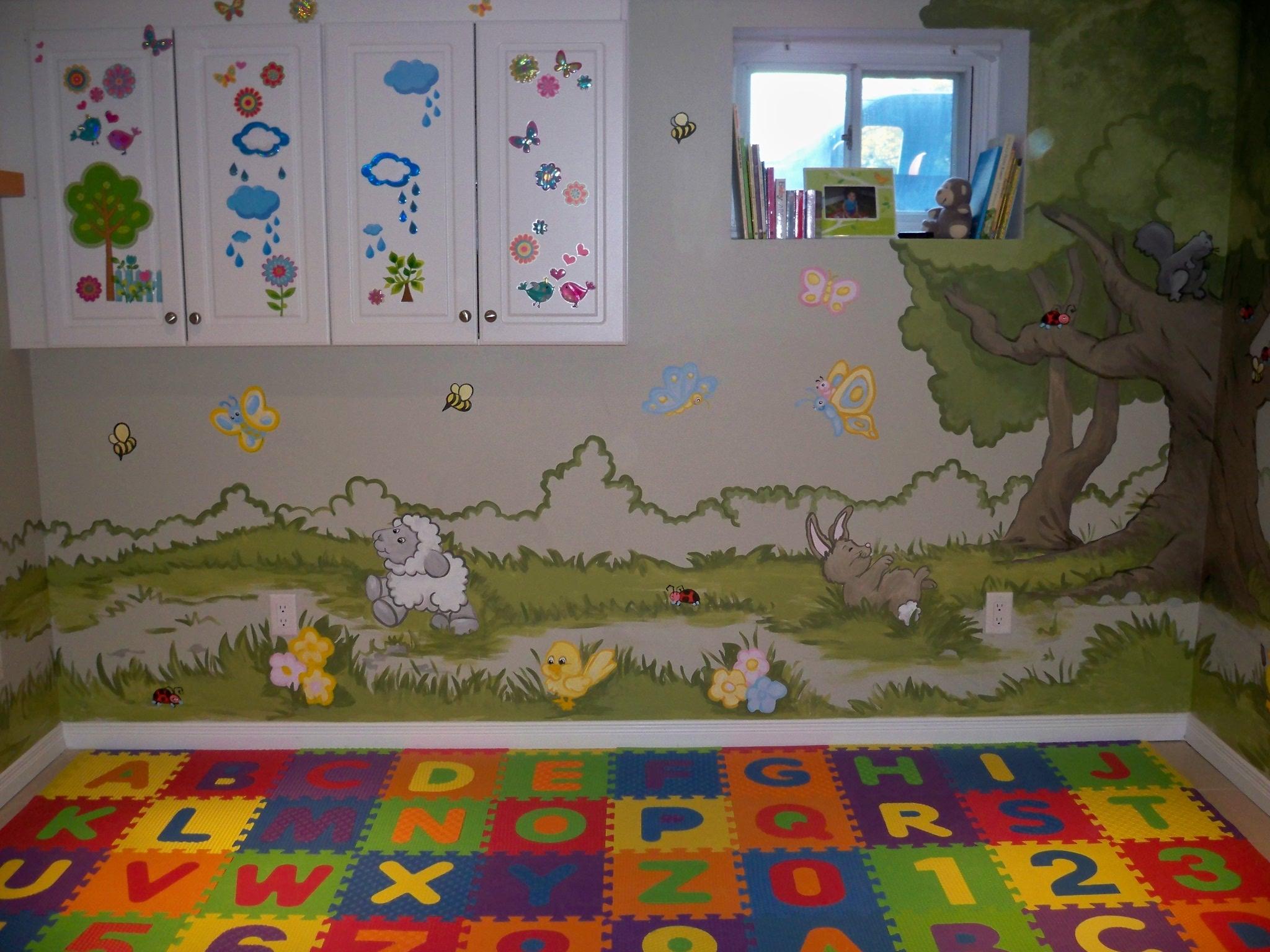 Murals By Marg Genevieve's Playroom Mural 4.JPG