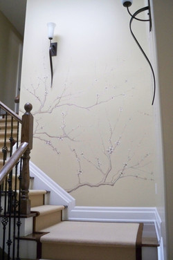 Murals By Marg Hand Painted Cherry Blossoms 1.JPG