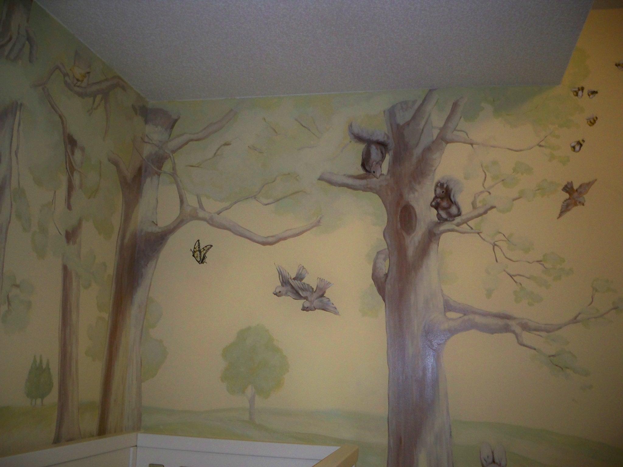Murals By Marg Kayla's Nursery Mural 4