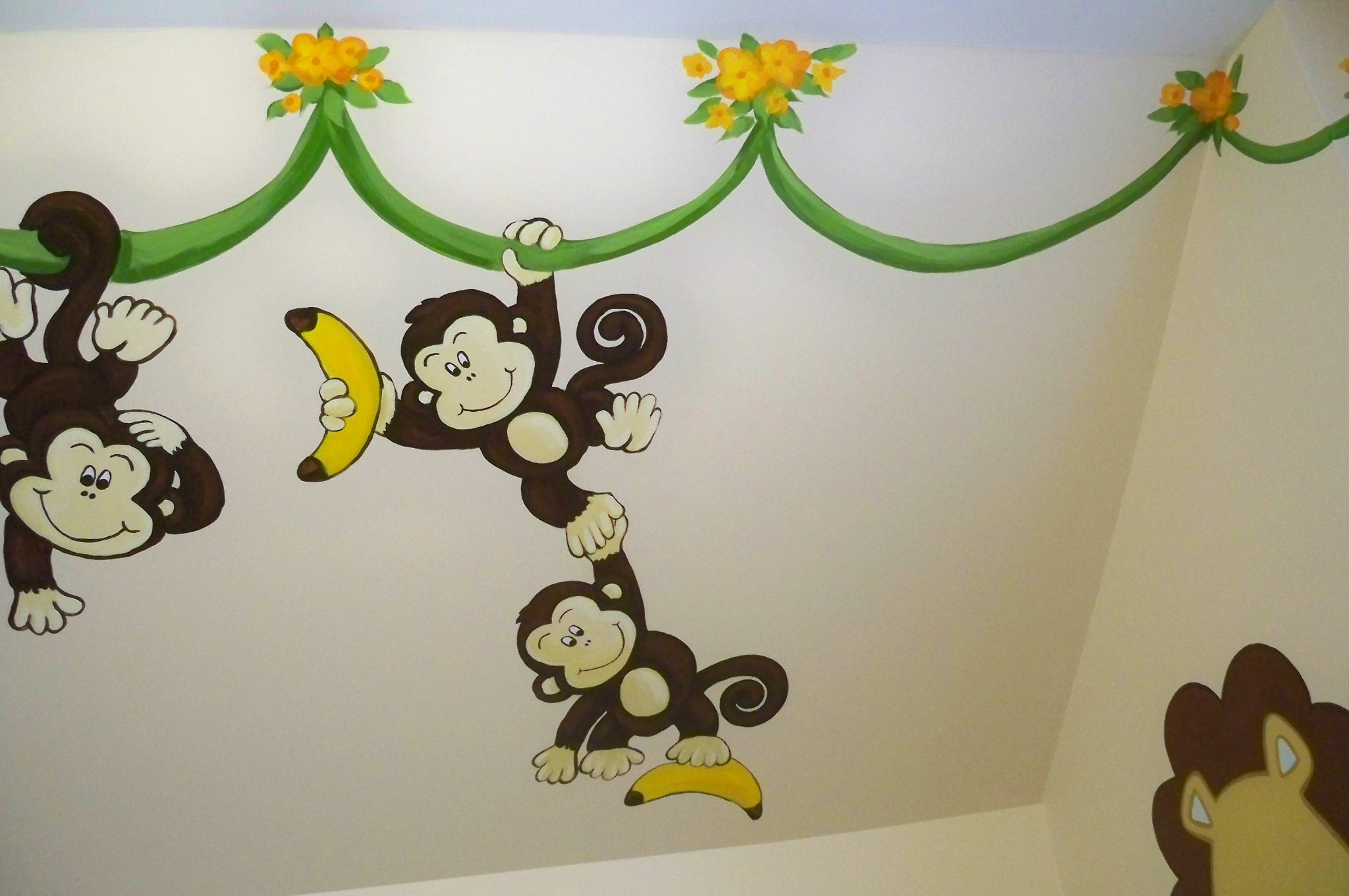 Murals By Marg Many Monkeys Nursery Mural 2010 8