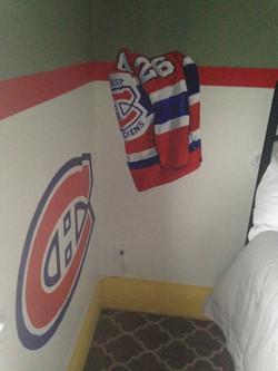 Murals By Marg -- boys hockey room 22