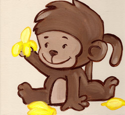 Murals By Marg Monkey with bananas.JPG