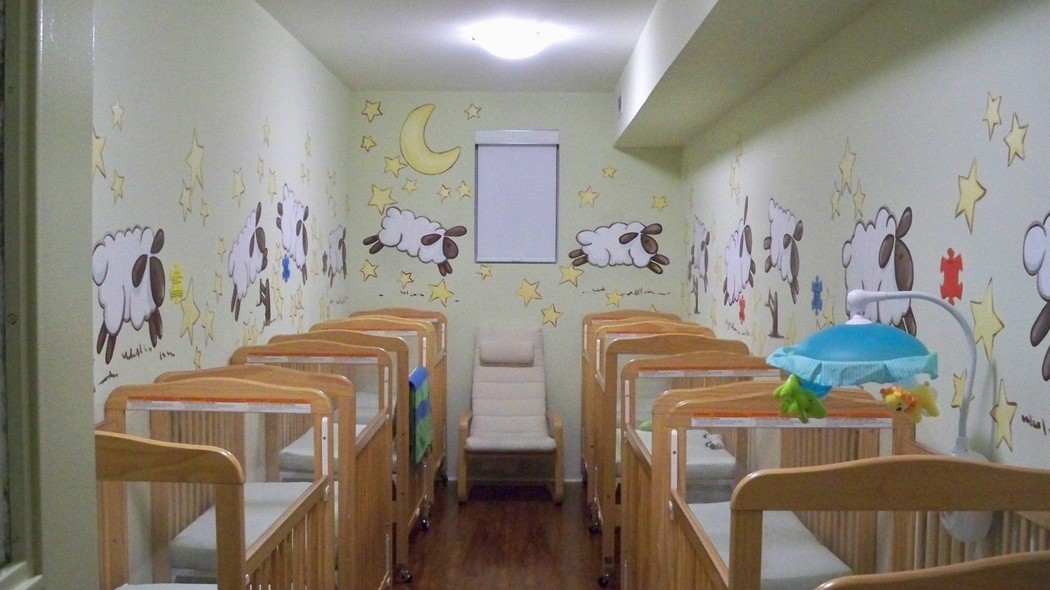 Murals By Marg TBA Sheep Nusery Mural 1.JPG