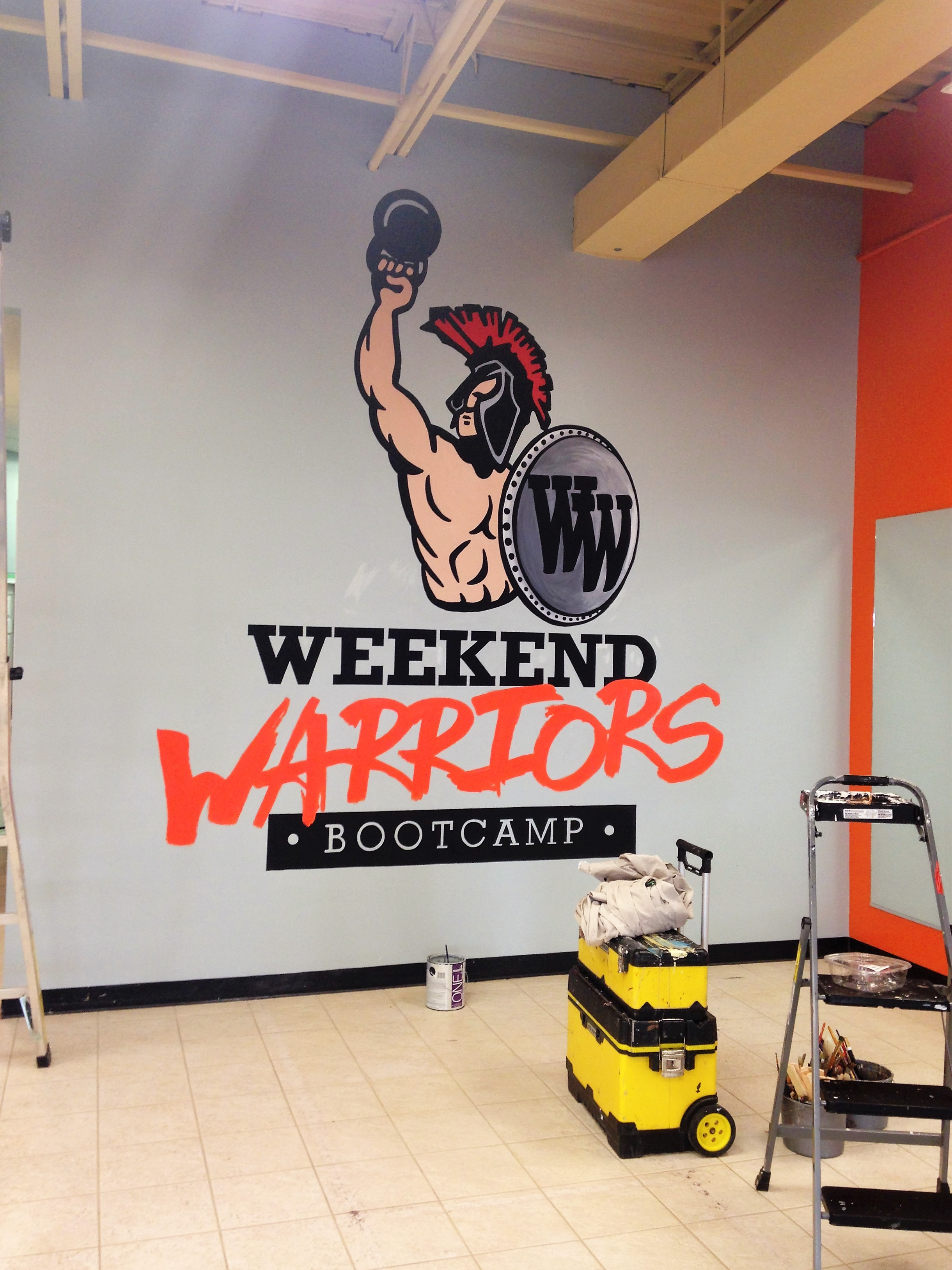 Murals By Marg -- Weekend Warriors