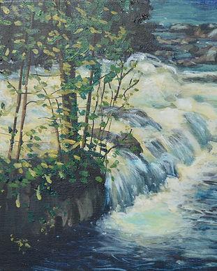Margaret Cresswell Plein Air Waterfall.j
