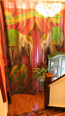 Murals By Marg Elephant curtains 2