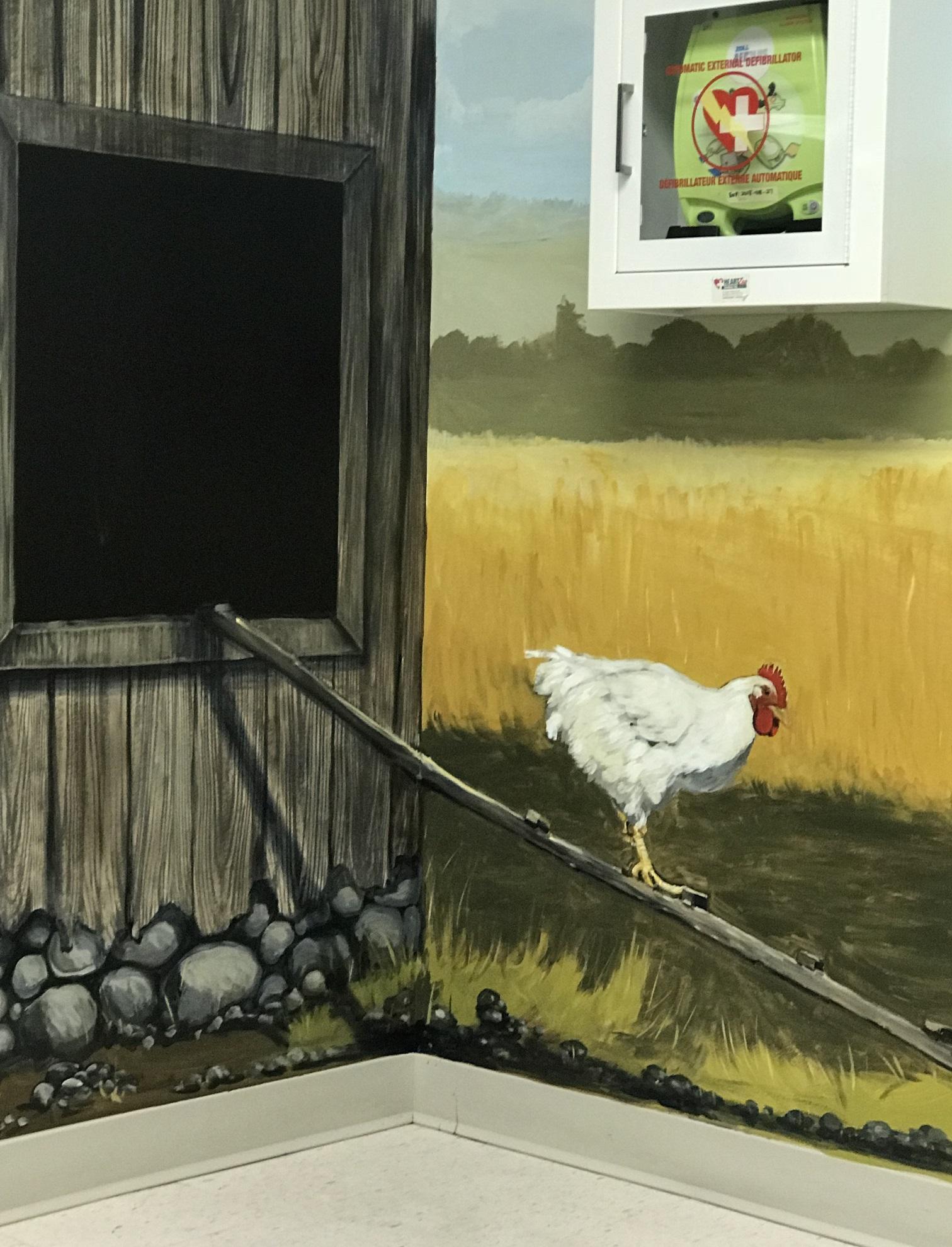 Murals By Marg Chicken trompe loiel
