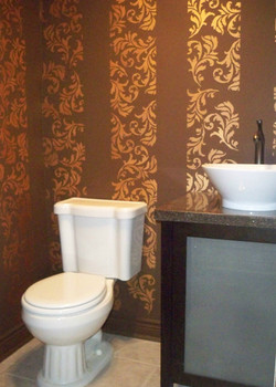 Murals By Marg Hand Painted Stencil Powder Room 2.jpg