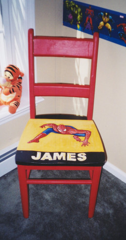 Murals By Marg Hand Painted Furniture  James' Chair.jpg