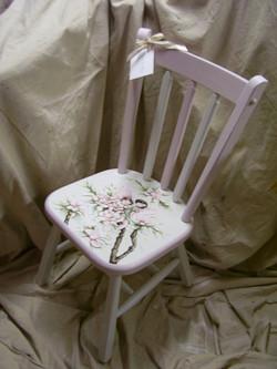 Murals By Marg Hand Painted Furniture Fairies chair.JPG