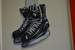 Murals By Marg -- boys hockey room 7