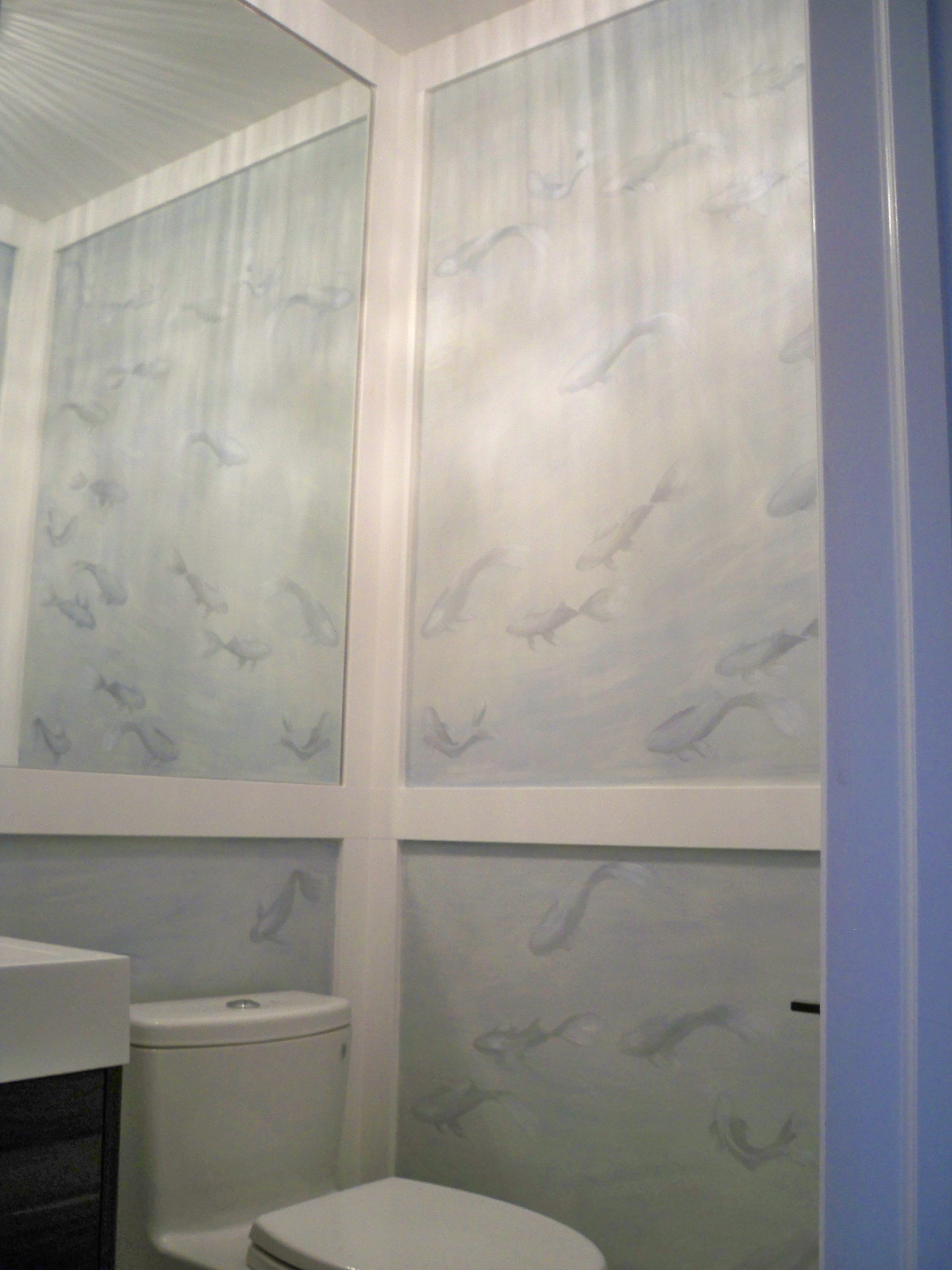 Murals By Marg Hand Painted Wallpaper Koi 1.JPG