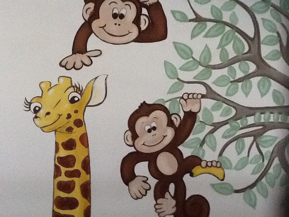 Murals By Marg Mini Monkey Nursery 1