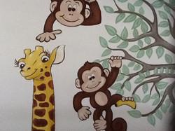 Murals By Marg Mini Monkey Nursery 1