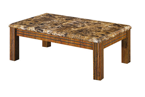 Brown Marble Effect Coffee Table