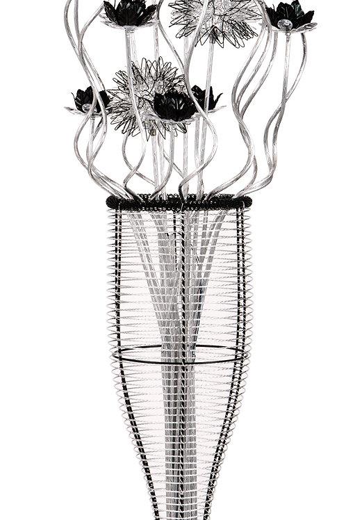 Black/Silver LED Floor Lamp