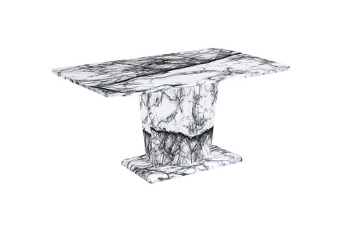 White Marble Effect Dining Table