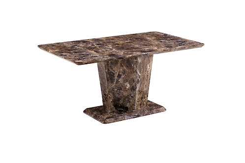 Brown Marble Effect Dining Table