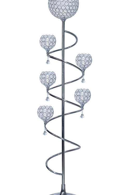 Crystal Round Floor Lamp