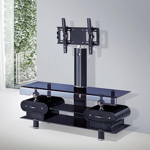 TV Stand 2 Drawer Black