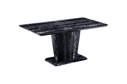 Black Marble Effect Dining Table