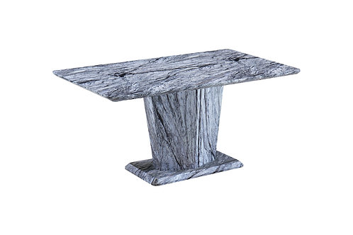 Grey Marble Effect Dining Table