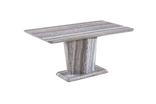 Oak Marble Effect Dining Table