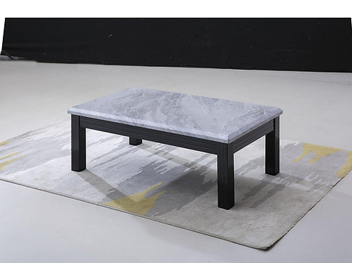 Silver/Grey Marble Effect Coffee Table