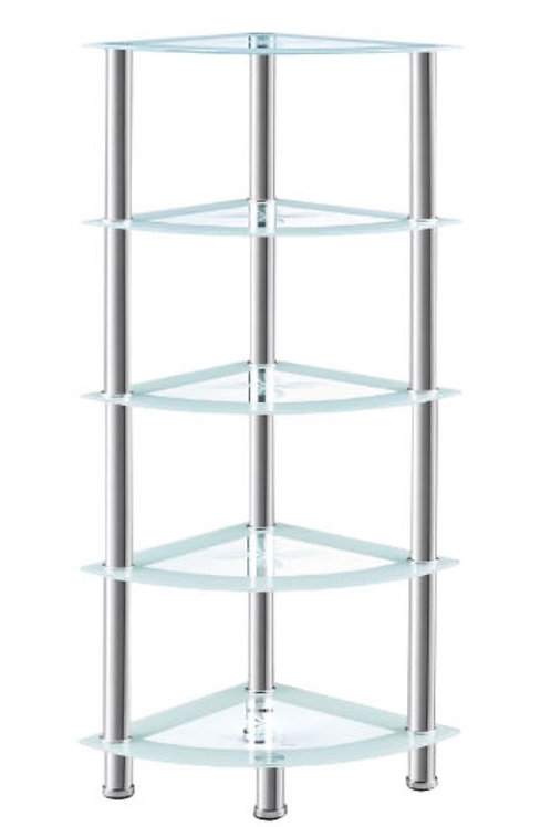 5 Tier White Corner Shelf