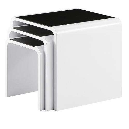 White/Black Nest of Table