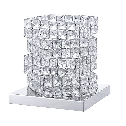 Silver Cube Table Lamp