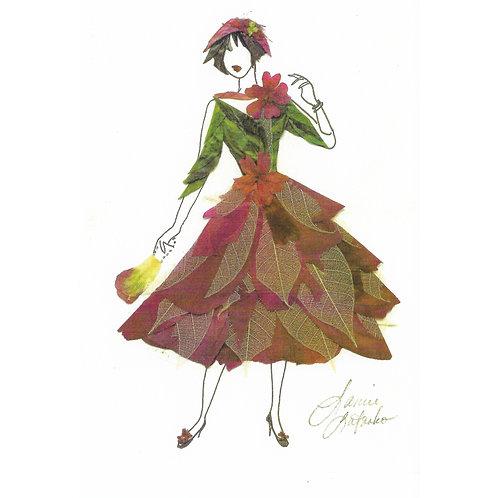 Burgundy 1950's Girl