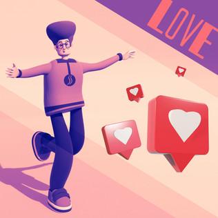 Ilustração 3D - Social Media