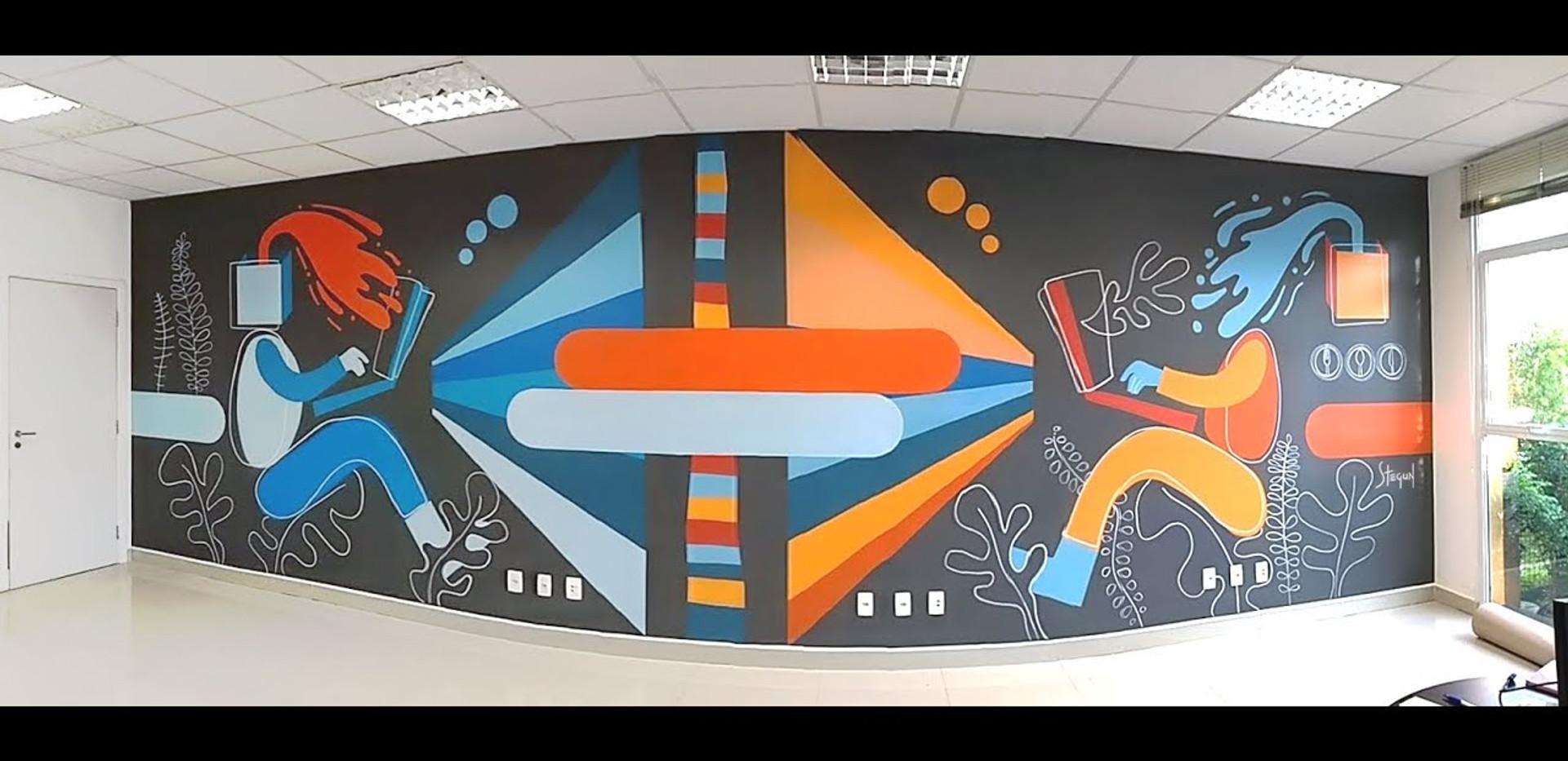 Time Lapse pintura de mural