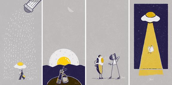 Ilustrações série OVO