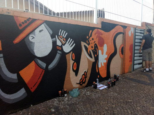 Muro Caixinha de Músicos