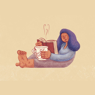 Ilustração Leitura