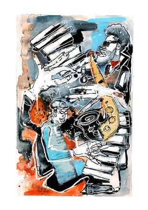Ilustração sobre Jazz