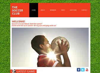 Soccer Club Website Template WIX - Soccer website templates