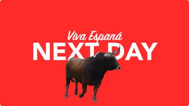 Morgen in Spanien per overnight Kurier